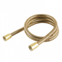 Gold Colour Plastic Covered Shower Hose - Large Bore - 1.5 Mts Long - HAR - 50600370